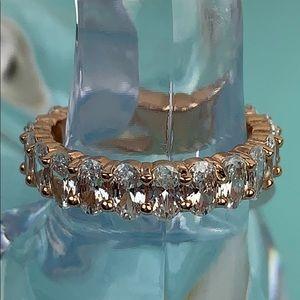 Stunning rose gold Swarovski crystal eternity ring
